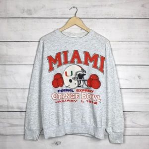 Vintage 1992 Miami Hurricanes Sweatshirt